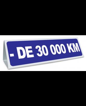 Triangle magnétique de toit - de 30000 km coloris bleu