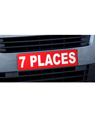 Cache plaque d'immatriculation avantage 7 places rouge