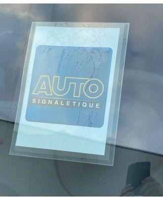 Porte affiche A4 VN/VO repositionnable transparent