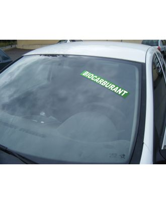 Autocollant Pare Brise Avantage Vert Biocarburant