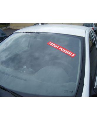 Autocollant Pare Brise Avantage Rouge Crédit Possible