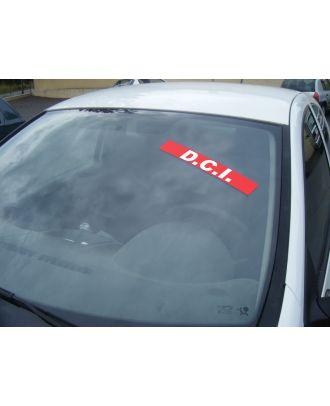 Autocollant Pare Brise Avantage rouge DCI