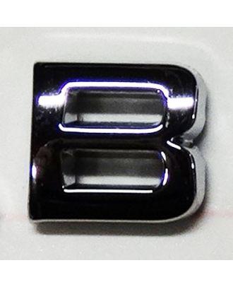 Lettre adhésive chromée B