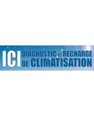 Visuel de banderole diagnostic et recharge de climatisation 3 x 0.8 m