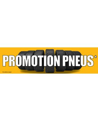 Visuel de banderole Promotion Pneus 3 x 0.8 m version 2