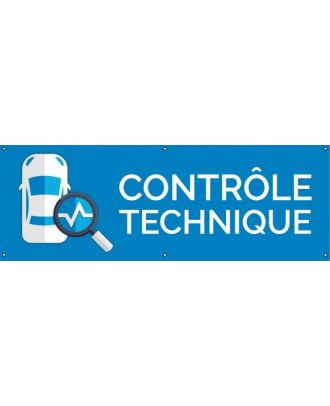 Banderole contrôle technique PVC