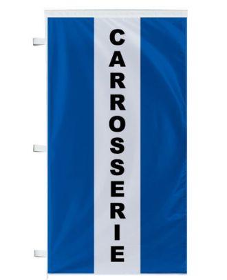 Bannière Carrosserie bleue à bandes latérales
