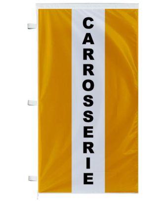 Bannière Carrosserie orange à bandes latérales