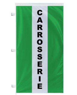 Bannière Carrosserie verte à bandes latérales