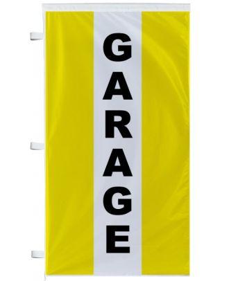 Bannière Garage jaune à bandes latérales
