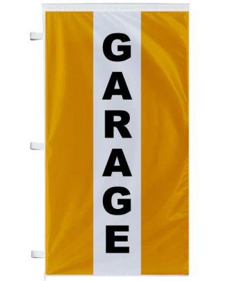 Bannière Garage orange à bandes latérales