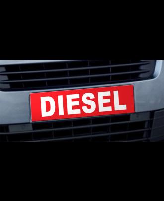 Cache plaque d'immatriculation avantage Diesel rouge