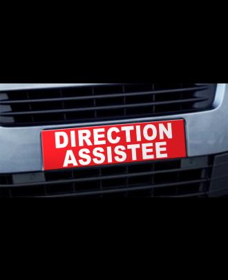 Cache plaque d'immatriculation avantage Direction Assistée rouge