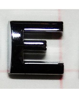 Lettre adhésive chromée E
