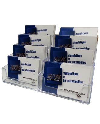 Présentoir de carte de visite 8 bacs ASK507 avec cartes