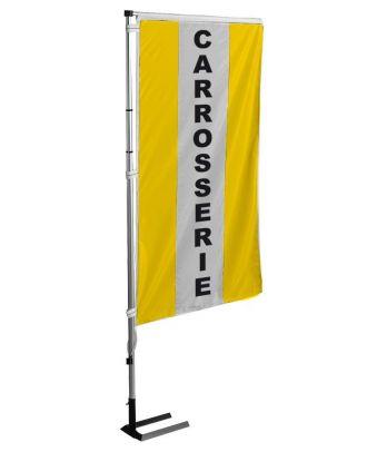 Kit mat et drapeau carrosserie Jaune à bandes latérales 4 m