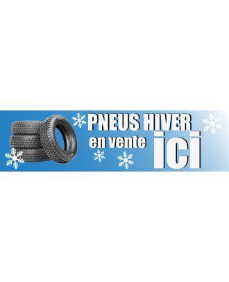 Visuel de la banderole pneus hiver en vente ici 3 x 0.8 m
