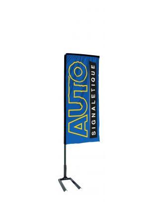 Kit mât Salta 2.30 m avec voile 1.35 m personnalisée et pied autocal