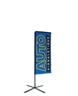 Kit mât Salta Kit mât Salta 2.30 m avec voile 1.35 m personnalisée et pied croisillon