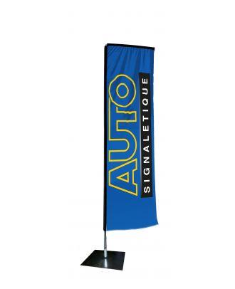 Kit mât Salta 3.40 m avec voile 2.50 m personnalisée et pied platine